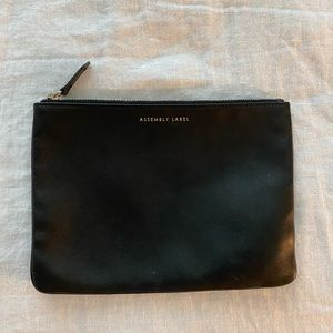 Assembly Label Leather Zip Pouch